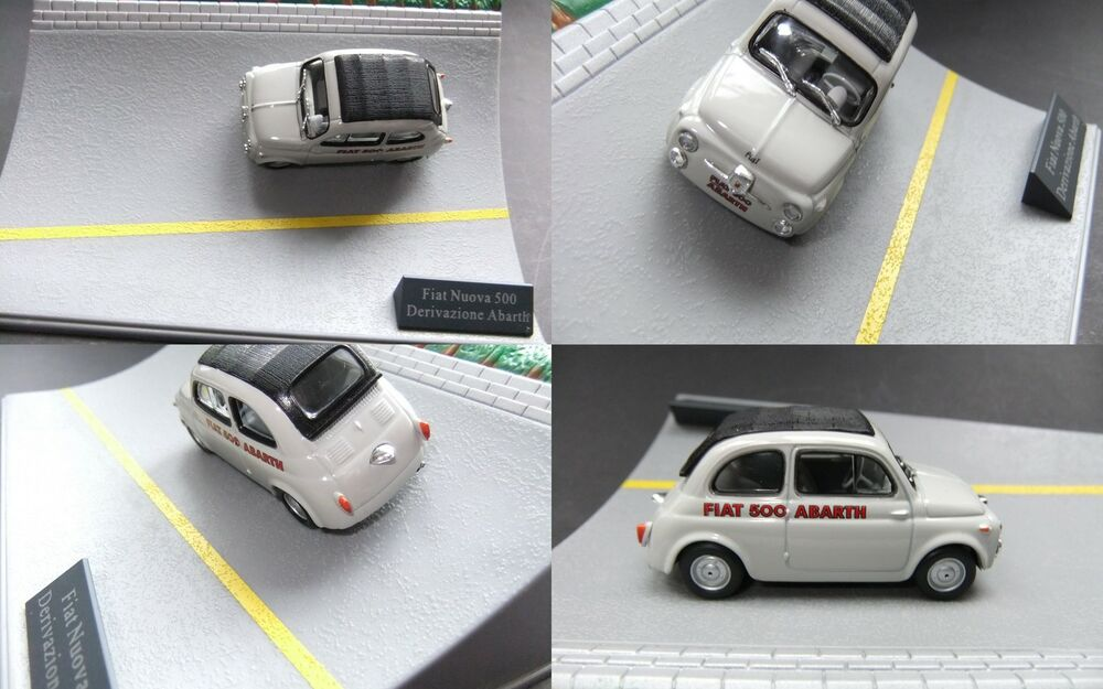 fiat nuova 500 abarth 1 43 in mini diorama 702 ebay. Black Bedroom Furniture Sets. Home Design Ideas
