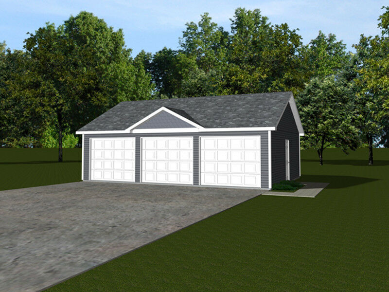 3 car garage plans 32x24 768 sf 1319 ebay for 1 5 car garage plans