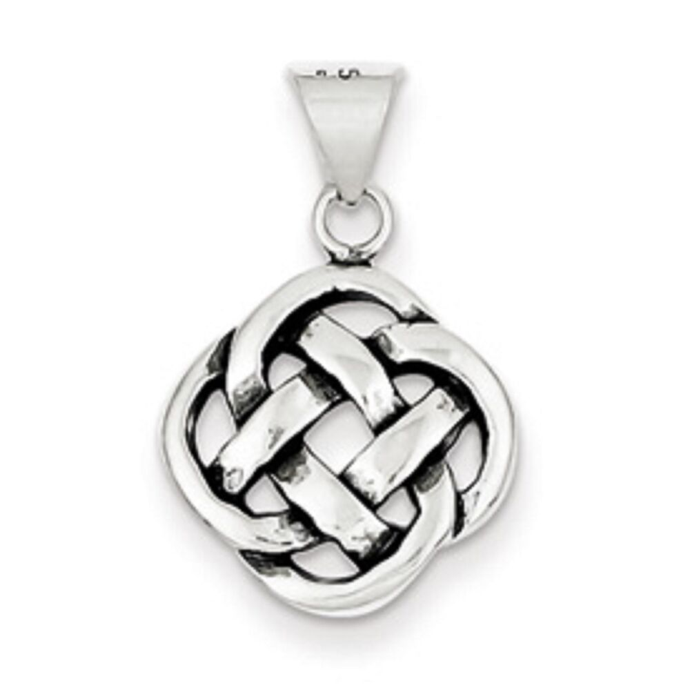 sterling silver irish celtic knot circle pendant charm. Black Bedroom Furniture Sets. Home Design Ideas