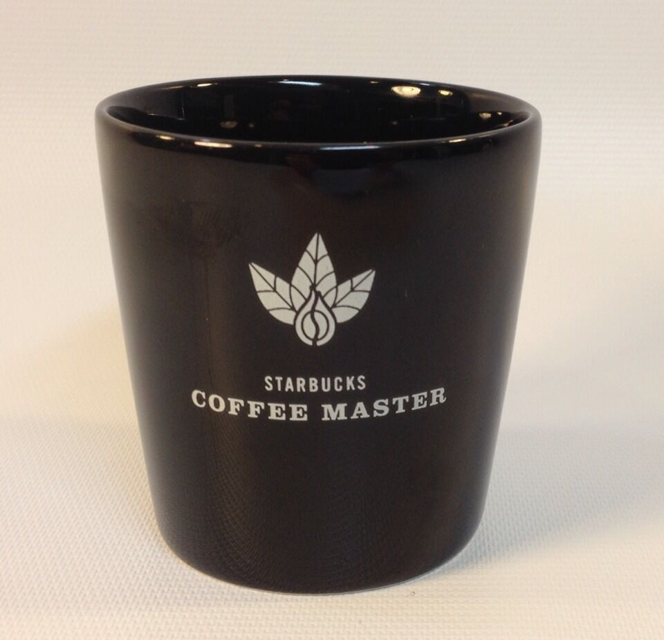 Starbucks Coffee Master Black Ceramic Shot Glass Ebay