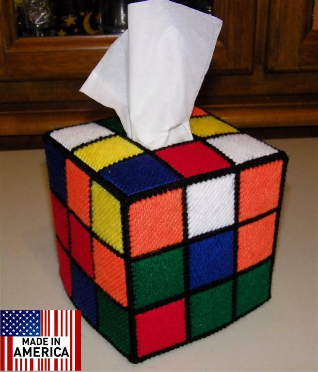 rubik 39 s rubiks rubix cube tissue box cover seen on tbbt tv. Black Bedroom Furniture Sets. Home Design Ideas