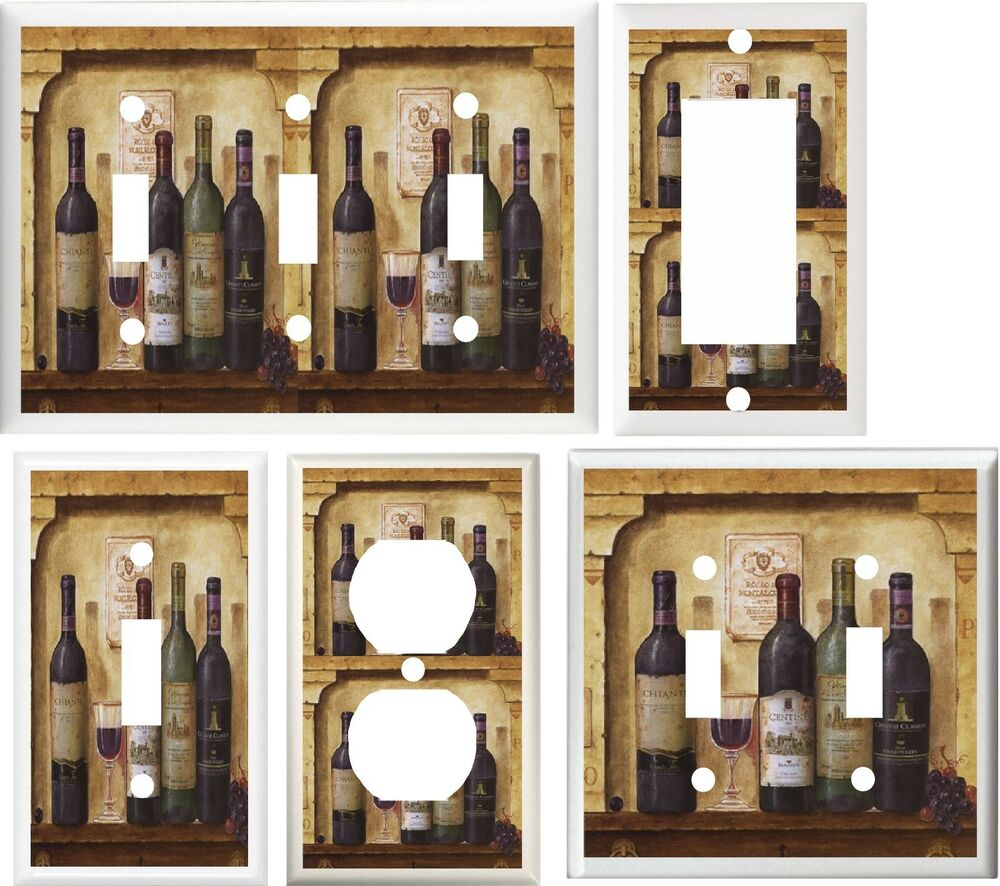 Tuscan Wine Grapes Kitchen Home Decor Light Switch Or
