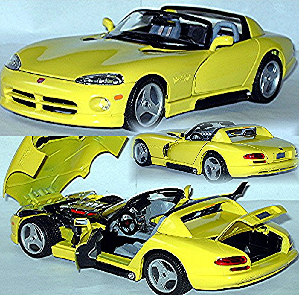 1 18 dodge viper rt 10 1992 2002 gelb yellow ebay. Black Bedroom Furniture Sets. Home Design Ideas