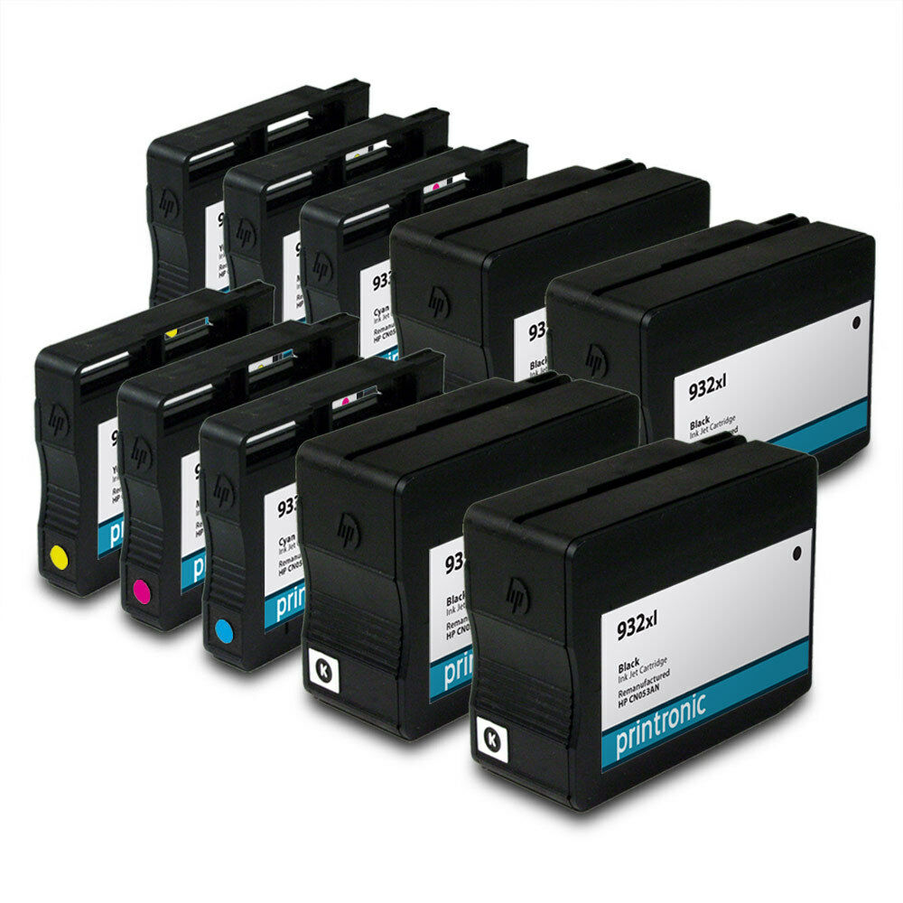 10pk hp 932xl 933xl ink cartridges for officejet 7610 6600 inkjet printers ebay. Black Bedroom Furniture Sets. Home Design Ideas