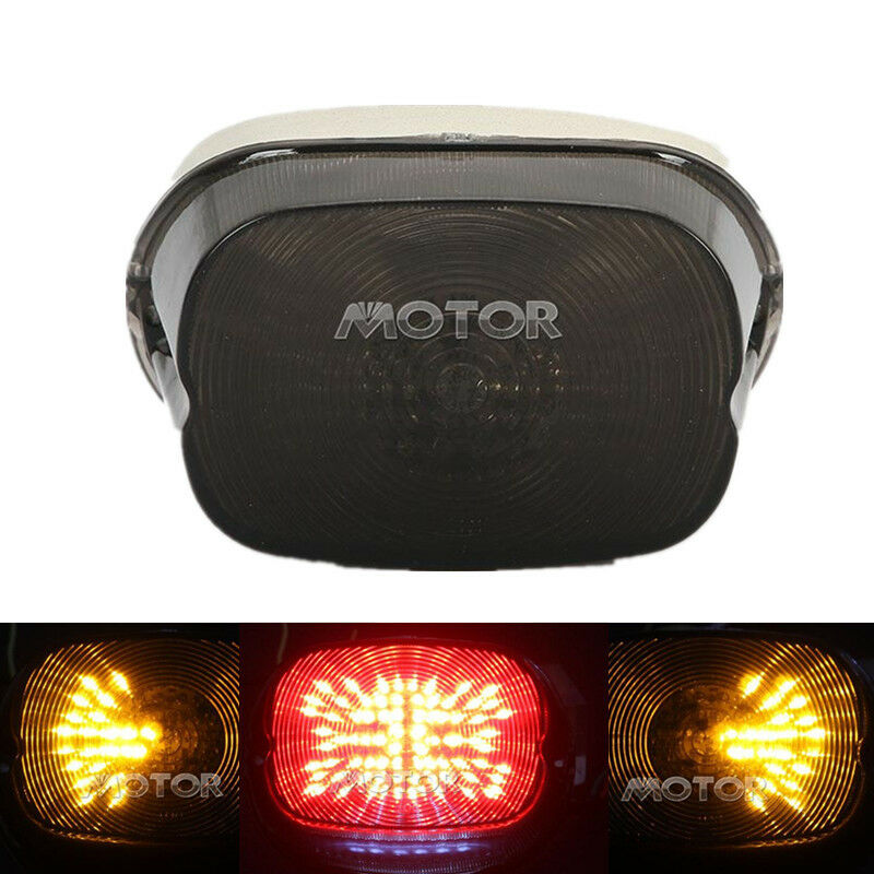 Smoke LED Tail Light For Harley Dyna Sportster Electra