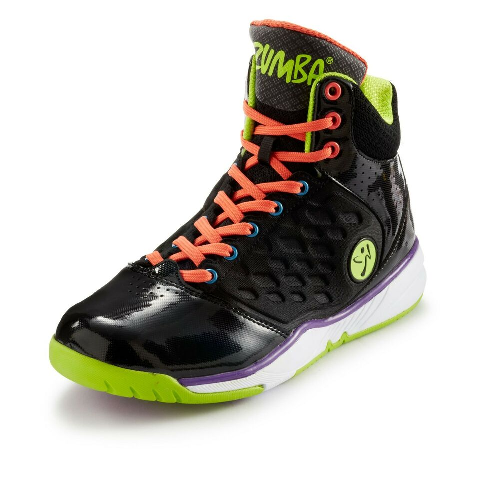 ZUMBA ENERGY PUSH HIGH TOP SHOES TRAINERS HIP-HOP w Z ...