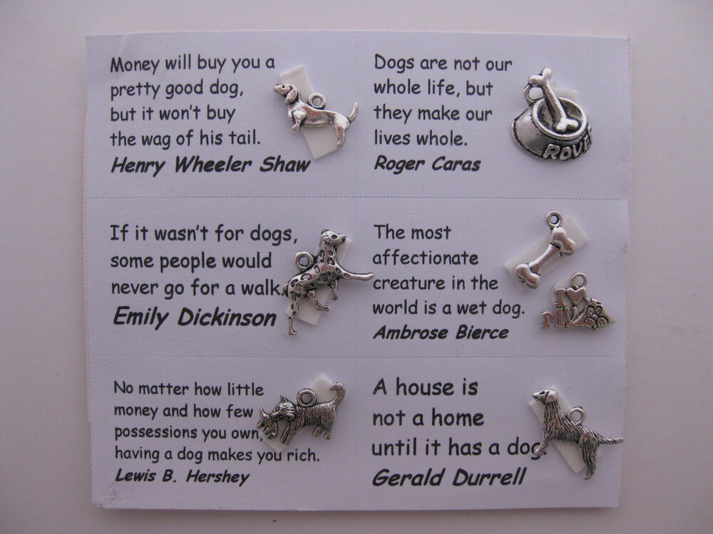 How To Make A Book Quote Pendant : Dog charms for scrapbooking card and jewelry making
