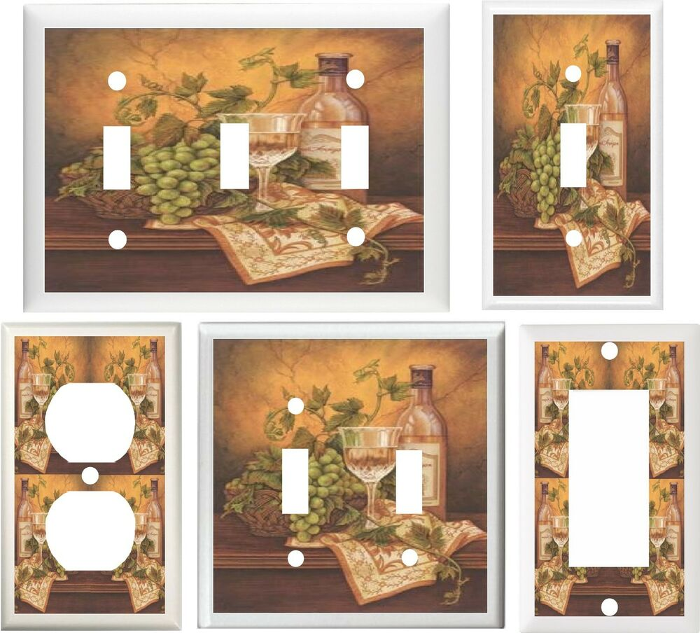 Http Www Ebay Com Itm Tuscan Wine Grapes Kitchen Decor Light Switch Or Outlet Cover V059 161261394748