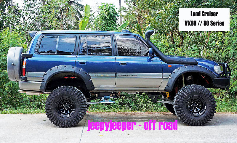 jungle off road 4x4 fender flares wheel arches toyota land cruiser vx 80 series ebay. Black Bedroom Furniture Sets. Home Design Ideas