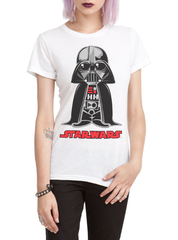 star wars darth vader chibi tee womens girls t shirt dark side anakin skywalker ebay. Black Bedroom Furniture Sets. Home Design Ideas