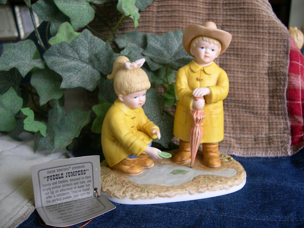 Home interiors homco denim days puddle jumpers figurine Home interiors figurines homco