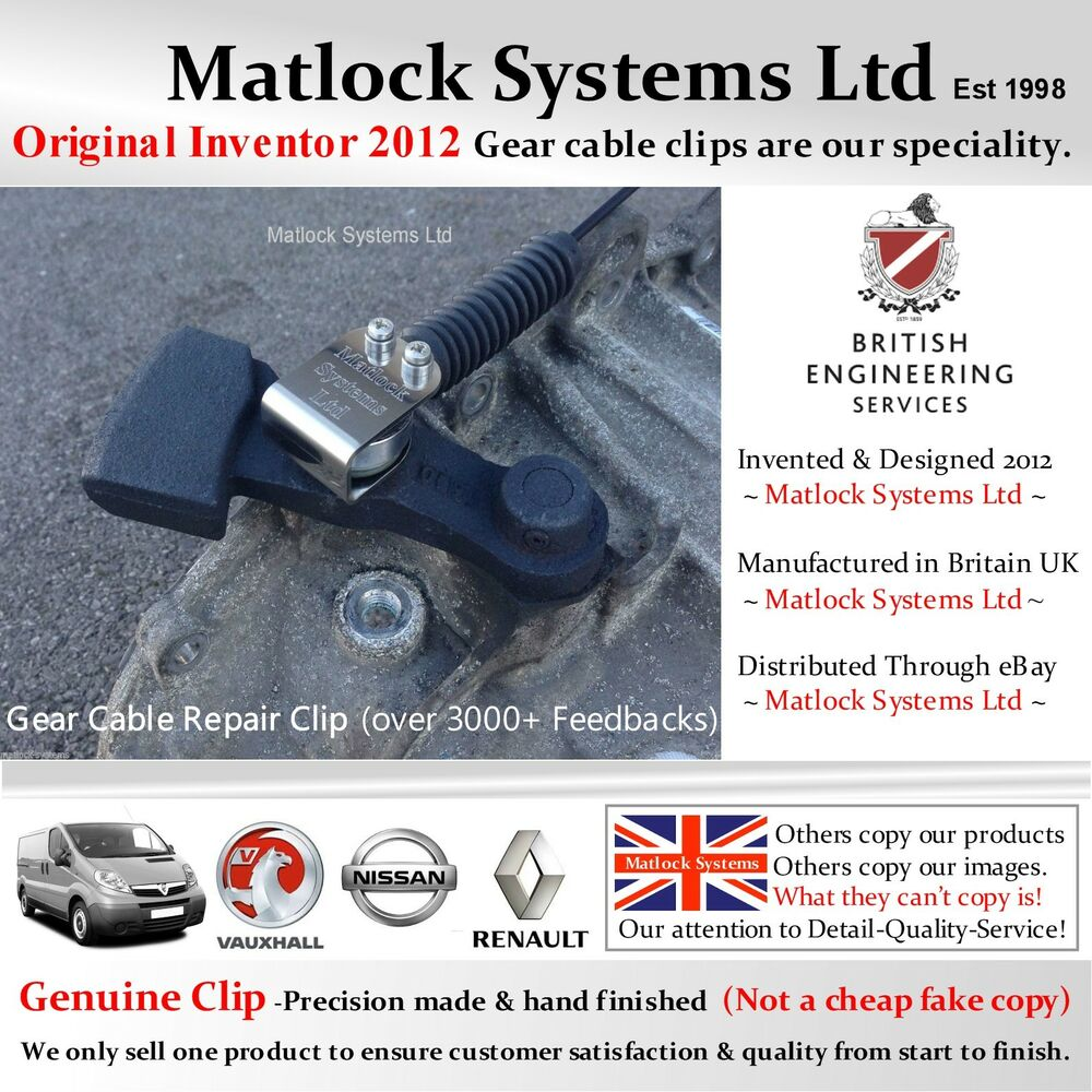 Vauxhall Vivaro Renault Trafic Nissan Primastar Gear Cable Repair To Fix No Communication Bus Wiring Problems For 2004 Mazda Vehicles Clip 660042973191 Ebay