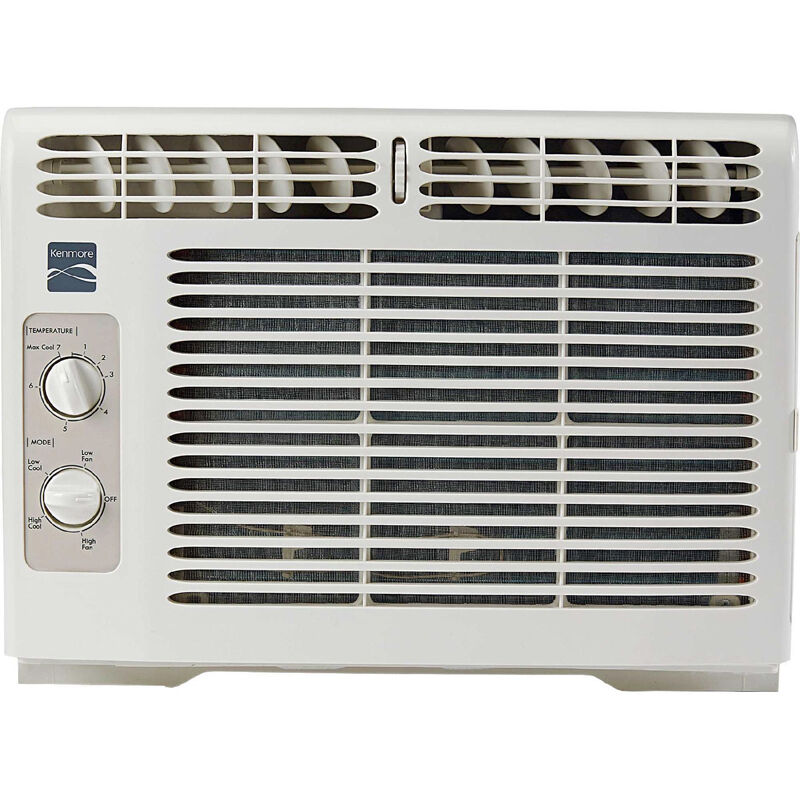 Kenmore 5000 btu compact window air conditioner 150 sq ft for Window unit ac