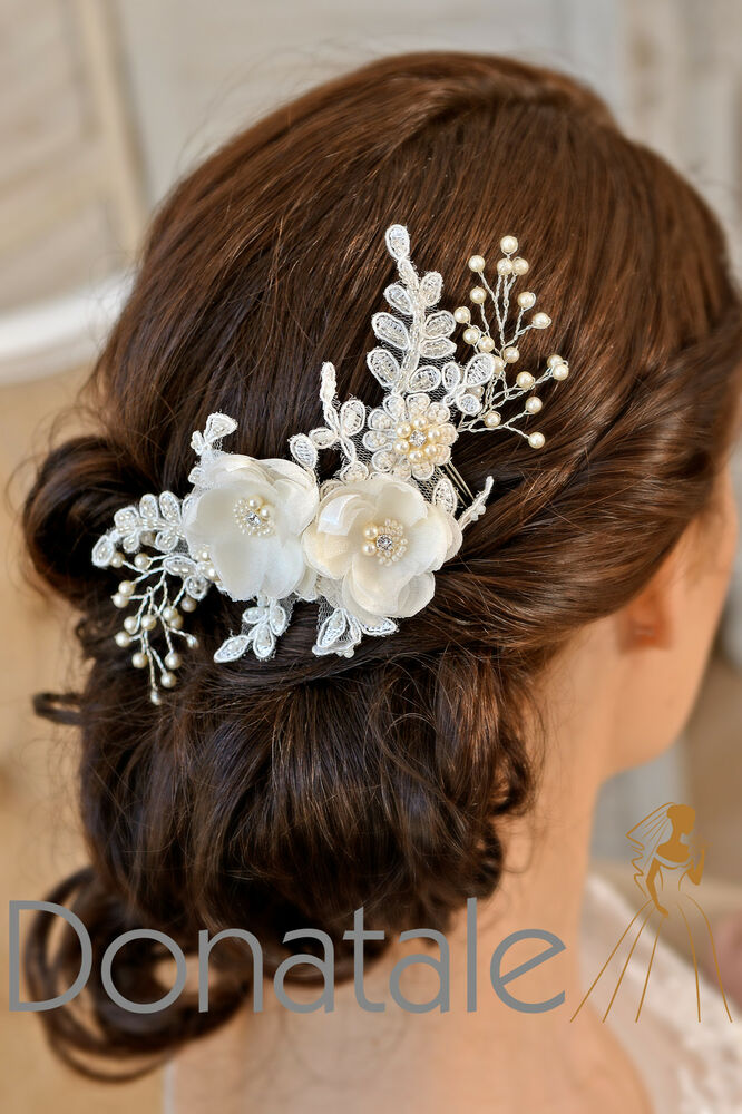 wedding hair flowers ivory hair comb bridal headpiece wedding hair bridal 9687
