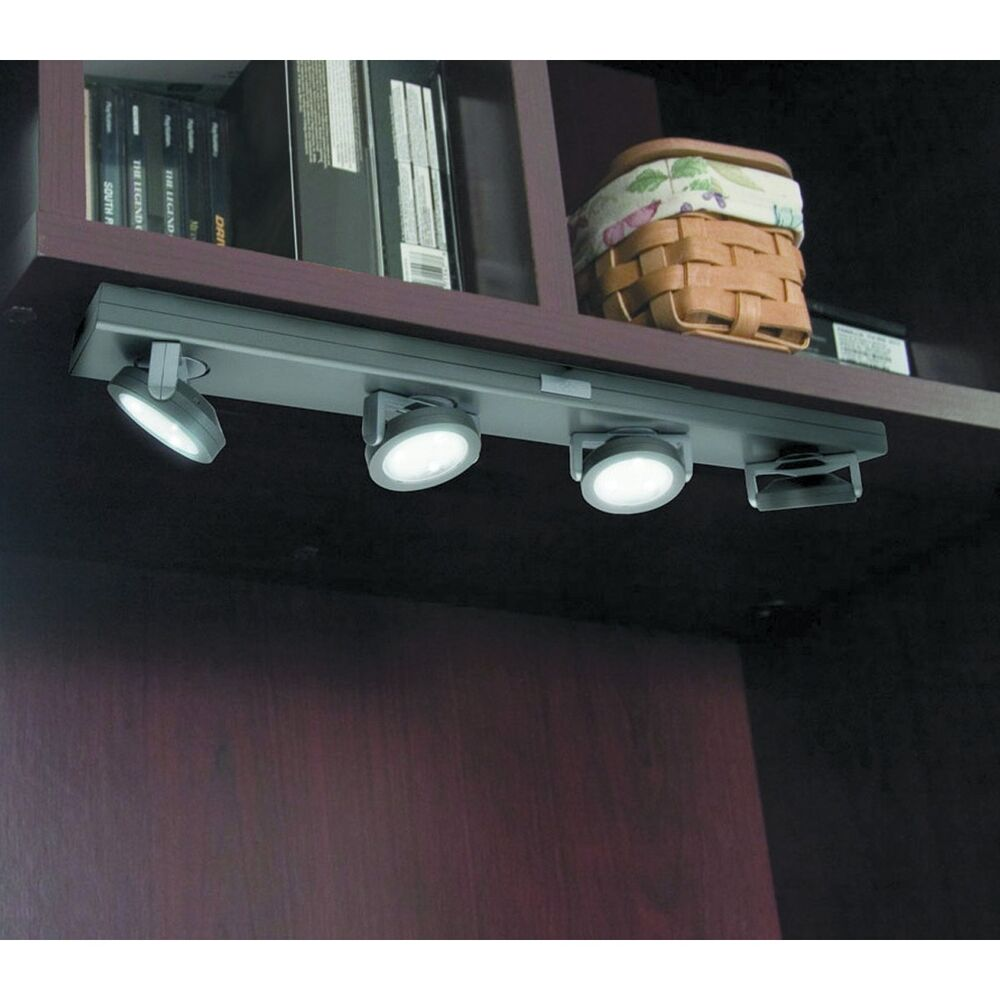 My Favorite Under Cabinet Lighting: 4 Swivel Head LED Under Cabinet Light No Wires Needed