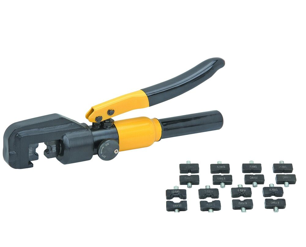 8 Ton Hydraulic Wire Crimping Tool 8 Dies Included For