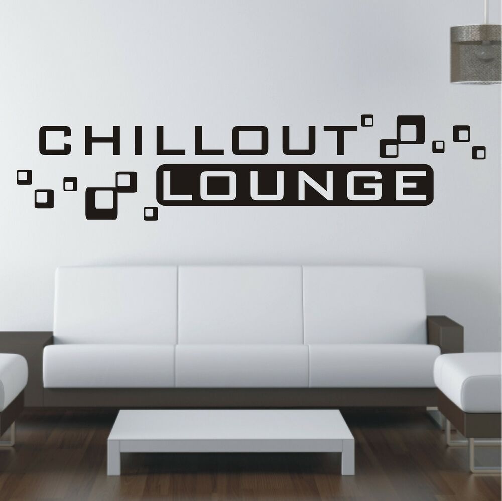 chillout lounge sofa bett folie wandtattoo sticker wandaufkleber aufkleber w514 ebay. Black Bedroom Furniture Sets. Home Design Ideas