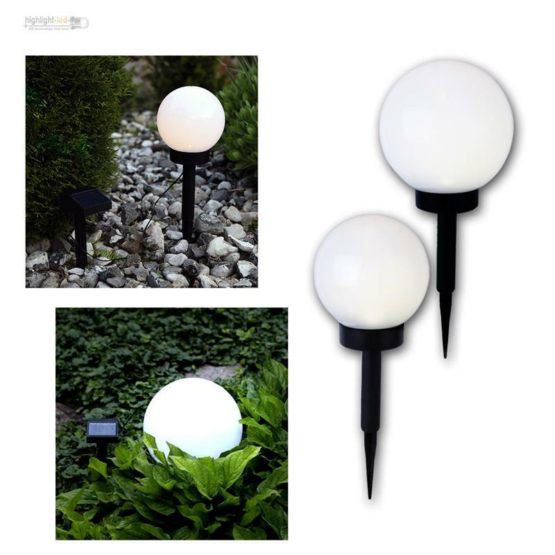 led kugelleuchte kugellampe garten leuchte lampe gartenlampe solarlampe ebay. Black Bedroom Furniture Sets. Home Design Ideas