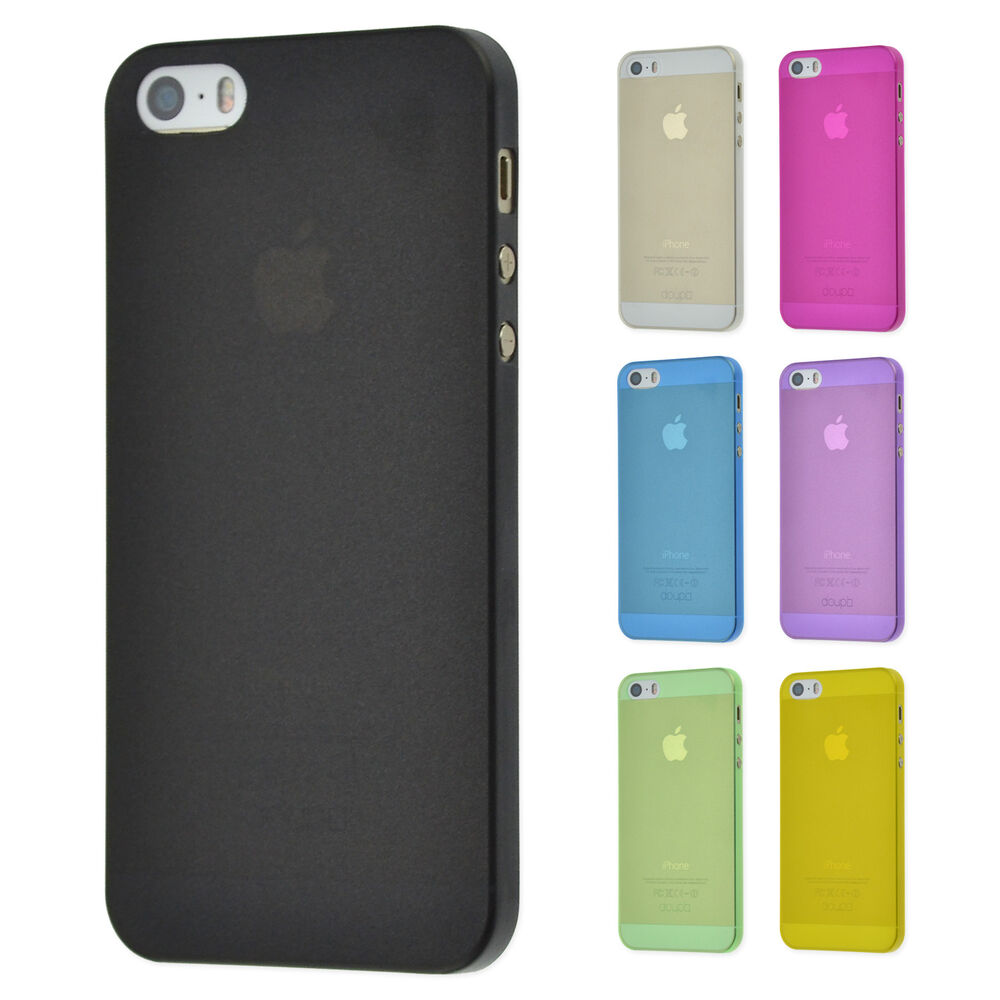 doupi ultraslim feinmatt case iphone 5 5s se h lle d nn bumper cover schale ebay. Black Bedroom Furniture Sets. Home Design Ideas