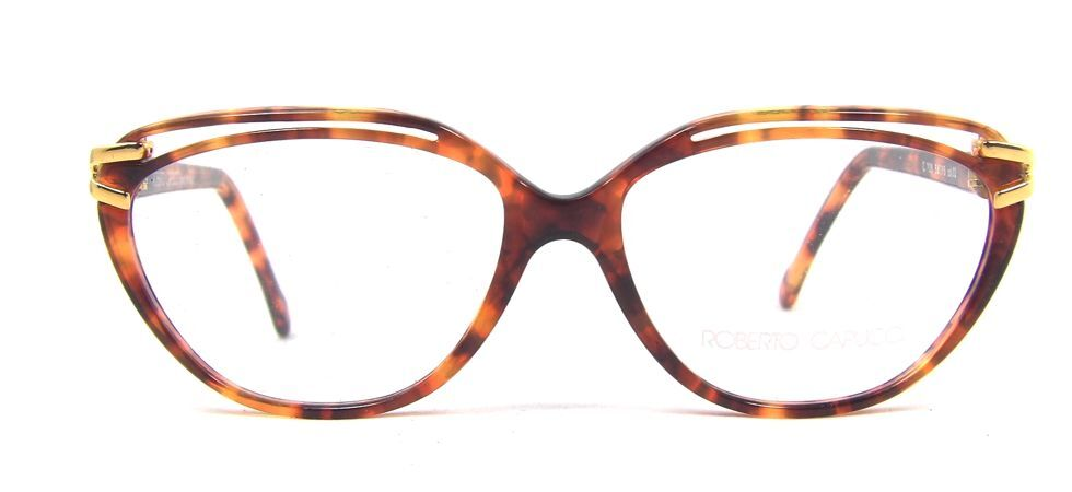 Roberto Capucci 708 Large Plastic Cat Eye Glasses Blond ...