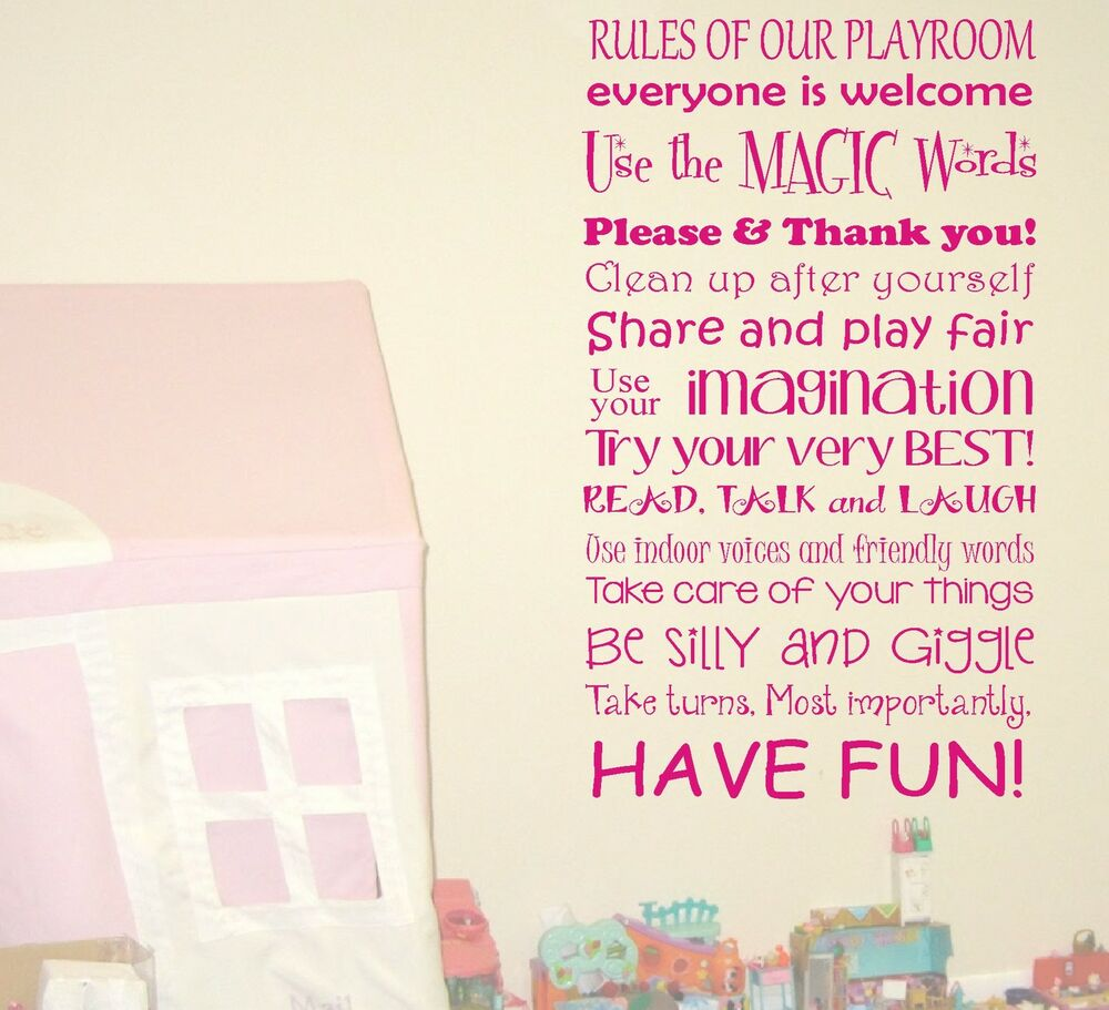 Diy Wall Decor For Playroom : Be silly giggle playroom nursery childrens quote wall