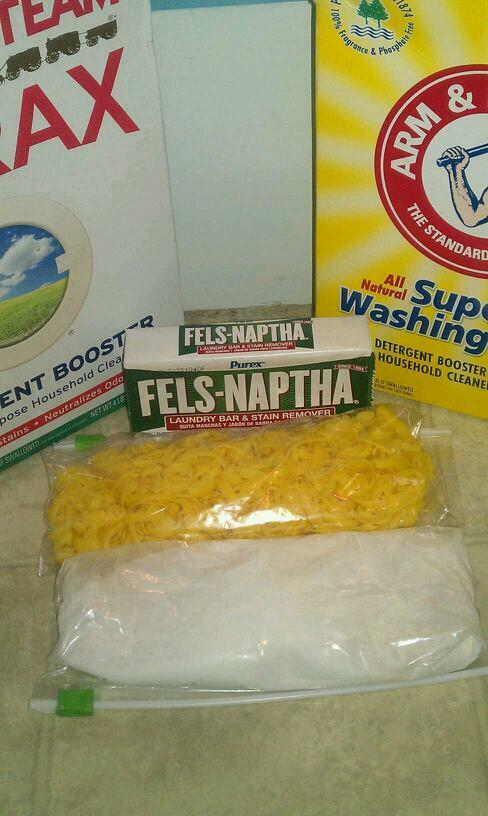 Fels Naptha Washing Soda Borax Homemade Laundry Soap