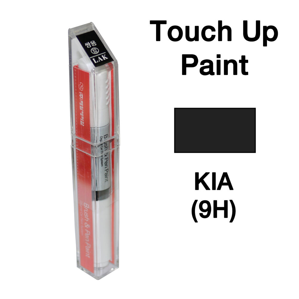 Kia oem brush pen touch up paint color code 9h black for Toyota paint touch up pen