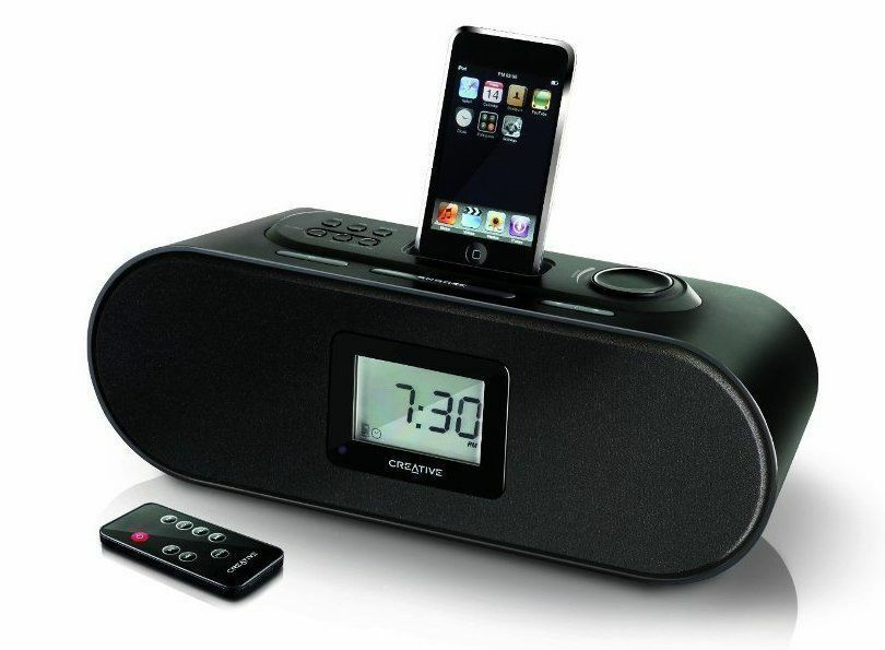 f r apple iphone ipod boxen creative d160 radio wecker dockingstation aux 3 5 mm 5390660170058. Black Bedroom Furniture Sets. Home Design Ideas