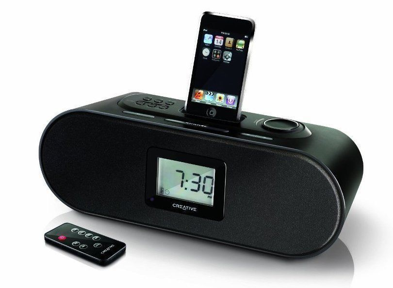 f r apple iphone ipod boxen creative d160 radio wecker. Black Bedroom Furniture Sets. Home Design Ideas