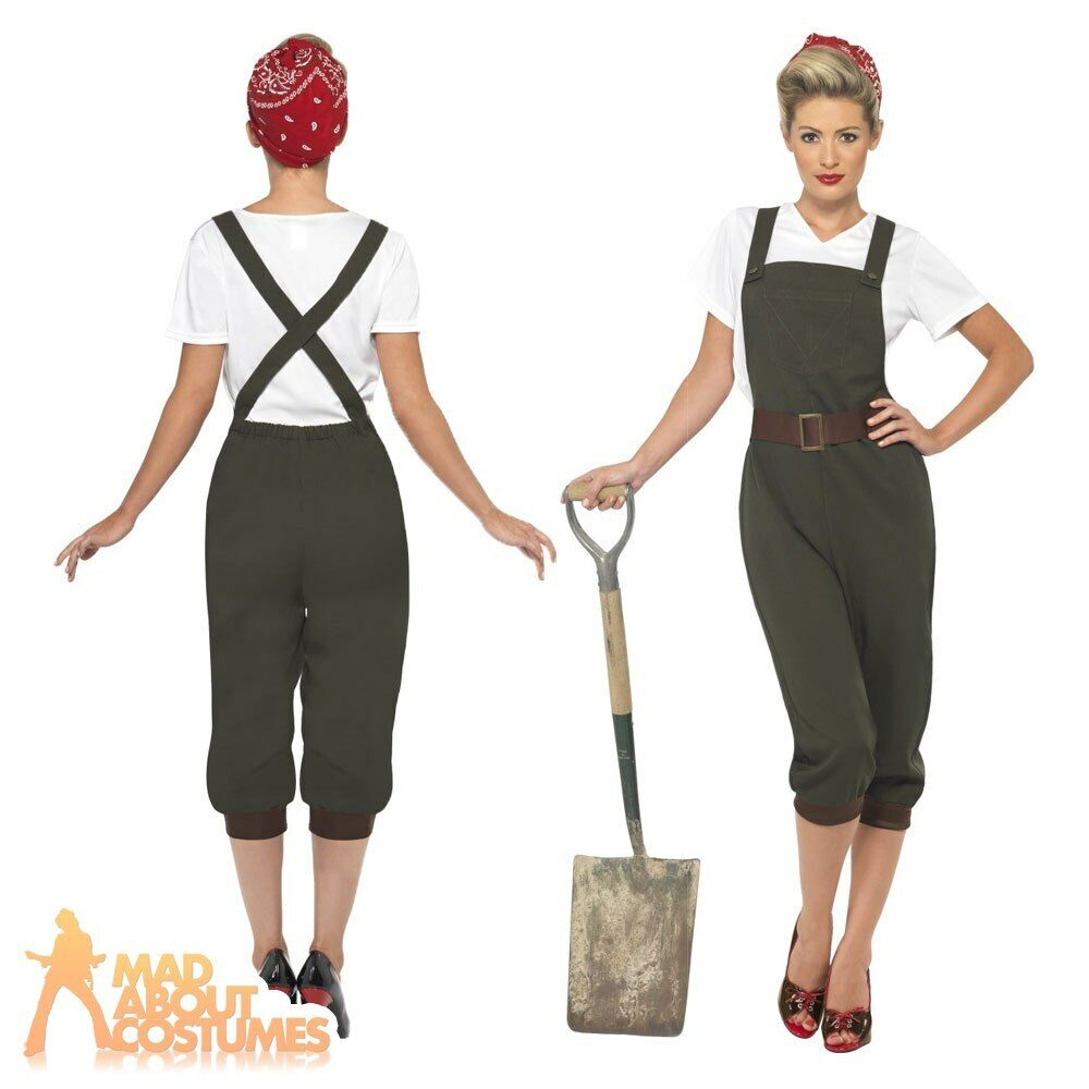 Ww2 1940s Land Girl Womens Army World War 2 Fancy Dress