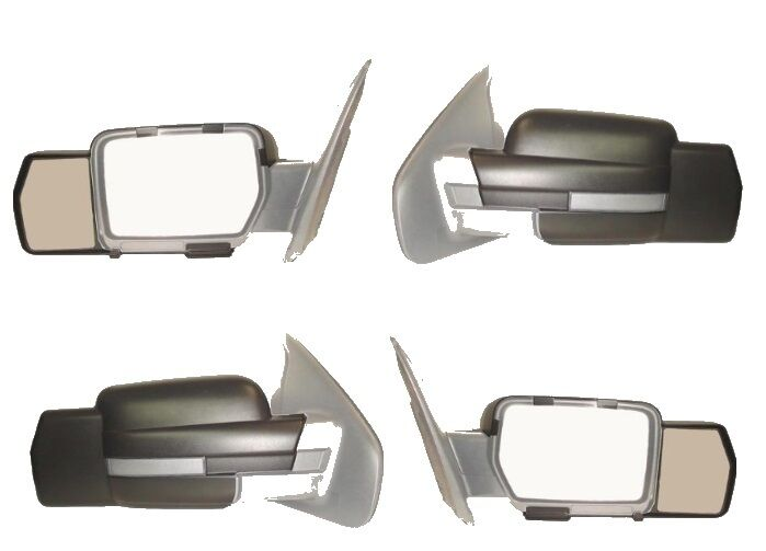 fits 2009 2010 2011 2012 2013 ford f 150 snap on towing mirror pair ebay. Black Bedroom Furniture Sets. Home Design Ideas