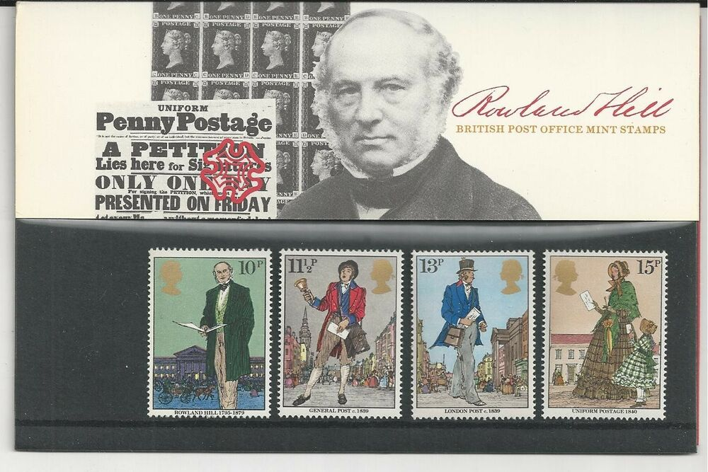 Great britain 871 874 british post office mint stamps rowland hill ebay - Great britain post office ...