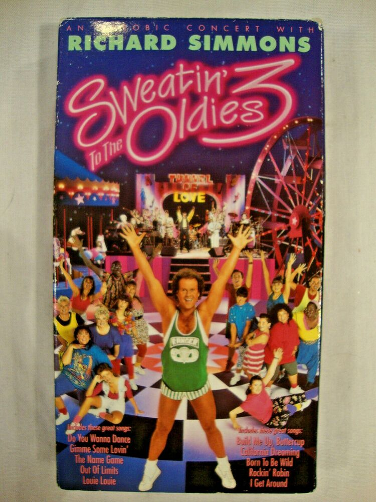 Sell Vhs Tapes >> Richard Simmons Sweatin To The Oldies 3 VHS Tape Excercise ...