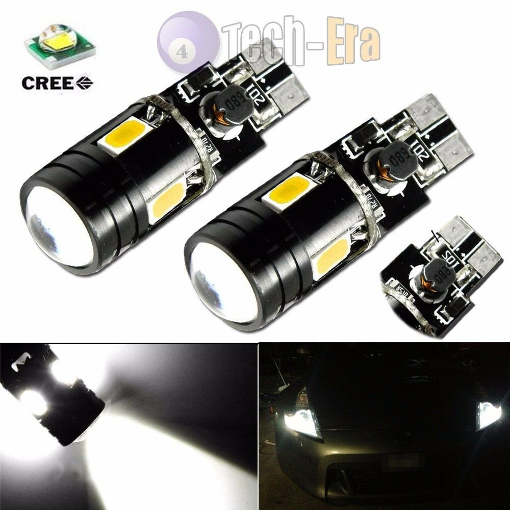 xenon white can bus error free t10 2825 w5w cree led. Black Bedroom Furniture Sets. Home Design Ideas
