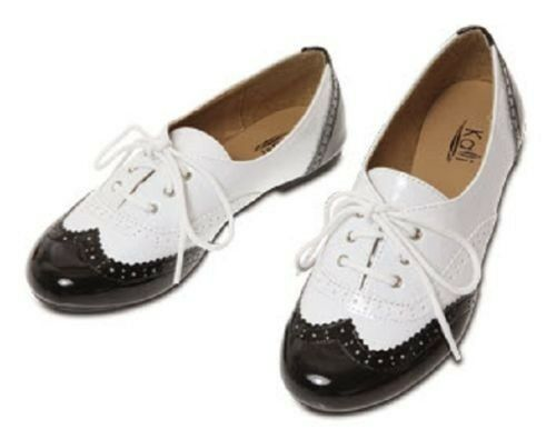 Womens Patent Oxfords Lace Up Classic Enamel Ballet Flat Loafer Shoes - ON SALE | EBay