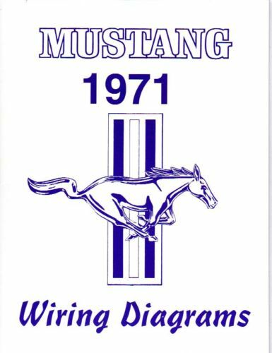 1971       MUSTANG   MACH 1 WIRING    DIAGRAM    MANUAL   eBay