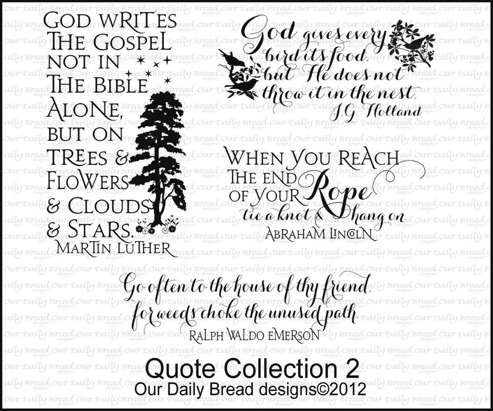our daily bread designs cling stamp set inspirational