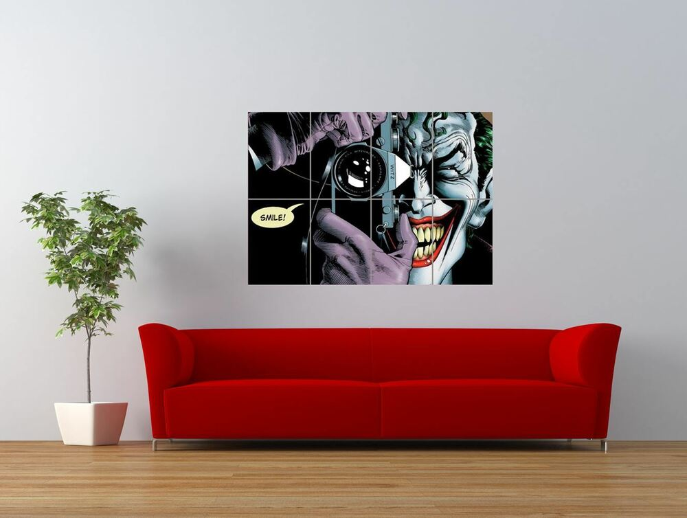 joker batman killing joke camera smile giant art print panel poster nor0087 ebay. Black Bedroom Furniture Sets. Home Design Ideas