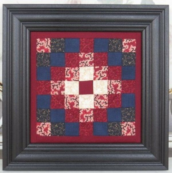 Framed Quilt Square Country Wall Hanging Lancaster Pa