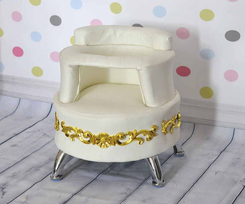 white baby sofa chair seat couch settee baby infant furniture photography props ebay. Black Bedroom Furniture Sets. Home Design Ideas