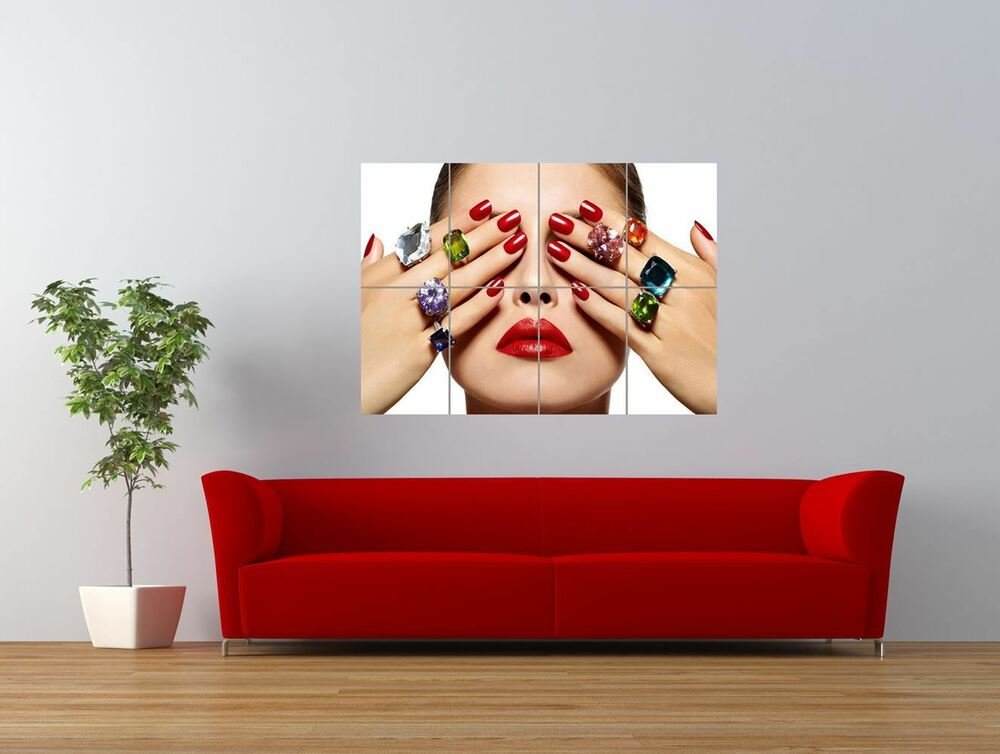 salon spa health beauty nails manicure giant art print panel poster nor0334 ebay. Black Bedroom Furniture Sets. Home Design Ideas