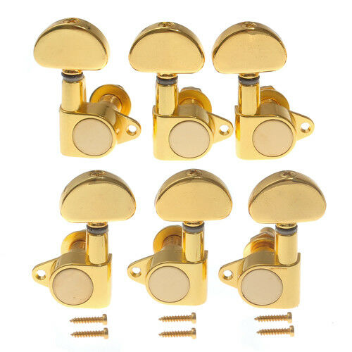 set 3l3r acoustic electric guitar tuning peg tuners machine heads gold keys pegs ebay. Black Bedroom Furniture Sets. Home Design Ideas