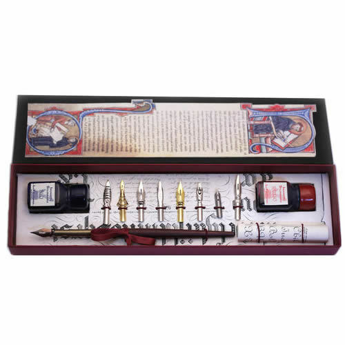 Calligraphy Set Wood Pen Nibs And Ink Bottles Set Great