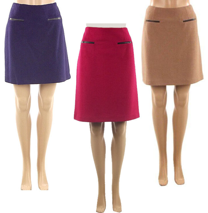 Marks & Spencer Womens Wool Mix Fully Lined M&S Skirts ...