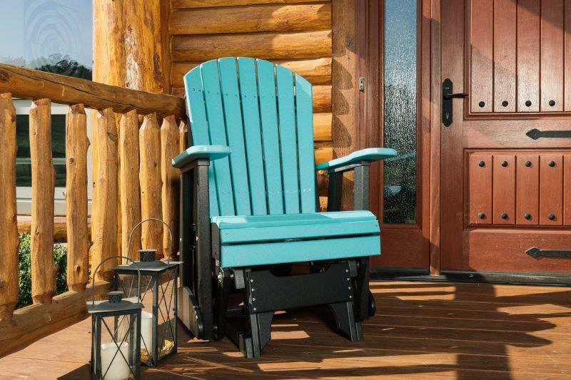 Poly furniture wood 2 ft adirondack porch glider multiple for Amish outdoor furniture
