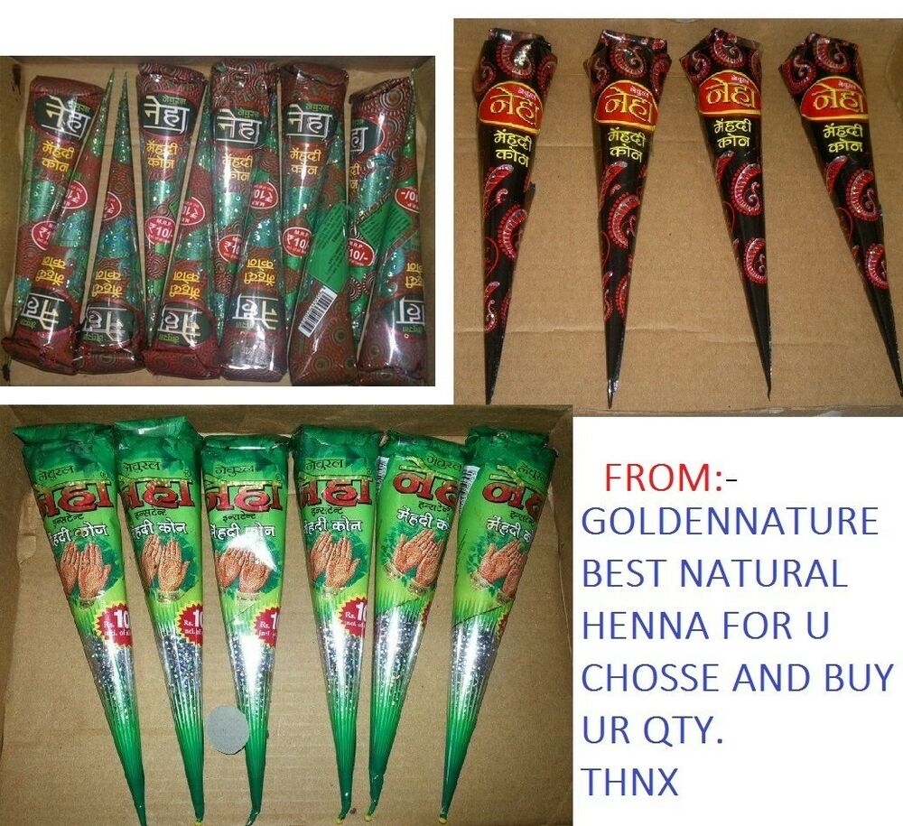 What Stores Sell Henna Tattoo Ink: NATURAL HENNA CHOICE & BUY * Henna Cone & Tubes Multi
