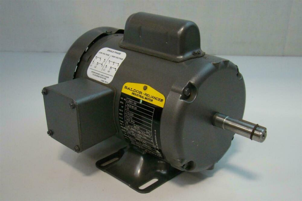 Baldor 1 3hp motor 110 220v single phase 1425rpm l3501 50 3hp 220v single phase motor
