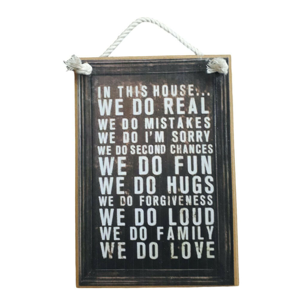 Country Printed Quality Wooden Sign Hanger This House