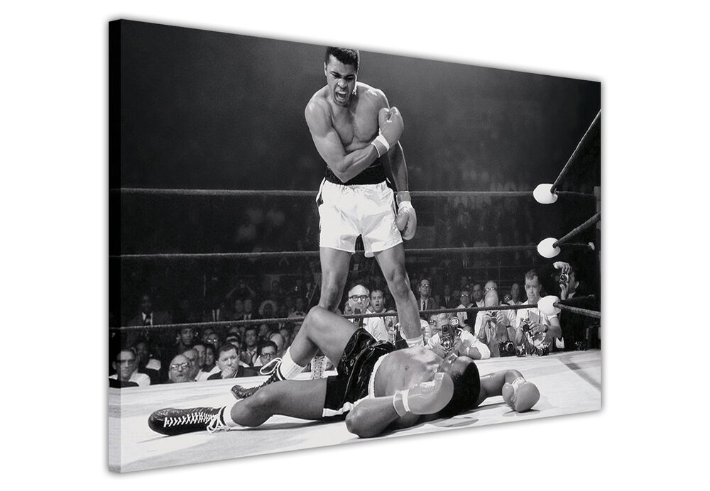 Black And White Sports Posters: MUHAMMAD ALI BOXING LEGENDS CANVAS PRINTS PICTURES WALL