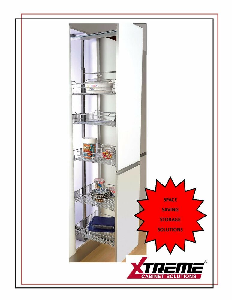 kitchen cabinets 500mm wide pull out larder unit with 5 baskets for 500mm 19927